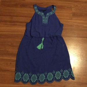 Blue dress final price